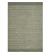 Mahi Matta Ull Off White/Grön 80x250 cm