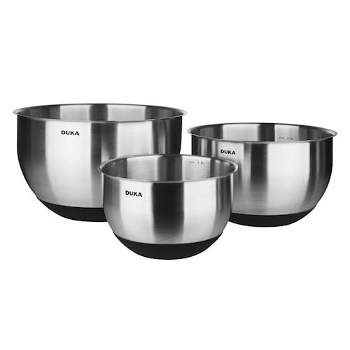 Kitchen Tillredningsskålar Stål/Silikon 3 delar