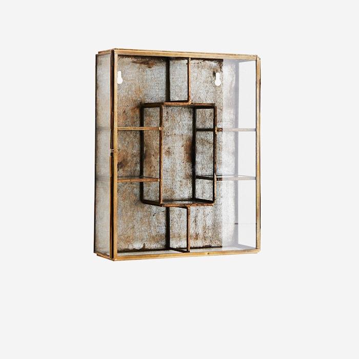 Væghylde 21x6x26 cm - Messing