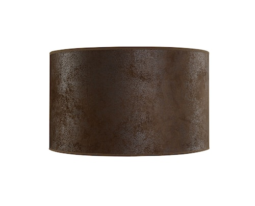 Cylinder Lampskärm Small Brown Suede