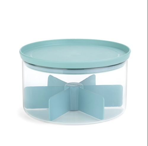 """Förvaringsburk Stapelbar """"Tea Box"""" Glas/Mint Lock"""