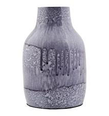 Vase Effect Ø 9x14 cm - Blå/sort