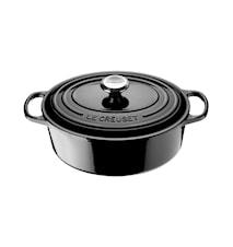 Oval Gryta 27 cm Black
