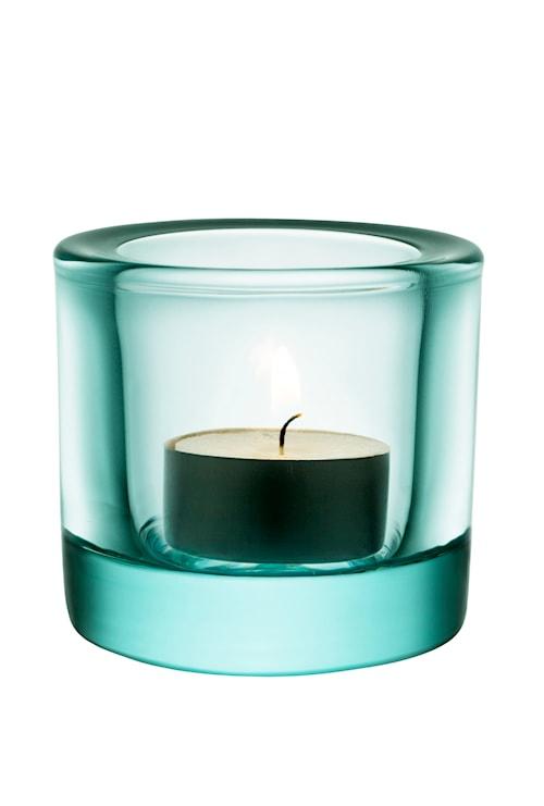 Kivi lysestage 60mm vandgrøn /gavepakning