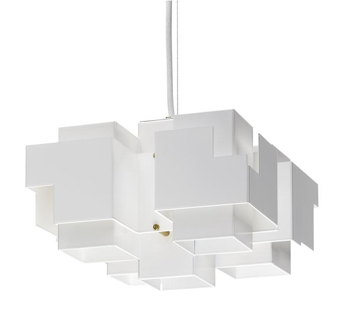 Skyline stor taklampe – Hvit