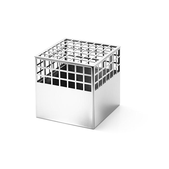 Matrix Cube Vase Rustfri Stål Medium