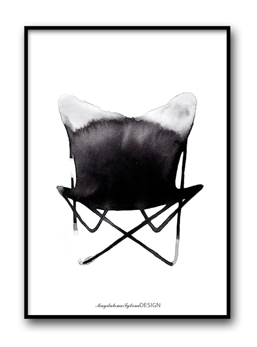 Chair butterfly poster – 30x40