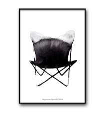 Chair butterfly poster