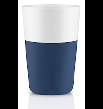 Cafe Latte Mugg 2 st - Navy Blue