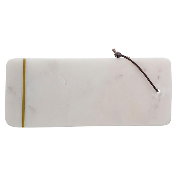 Skærebræt Marmor 37 cm - Hvid