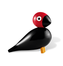 Sångfågel Peter svart/röd