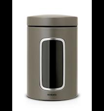 Opbevaringsbeholder med vindue 1.4 Ltr Platinum