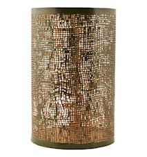 Ljuslykta Ø 12,5x19,5 cm - Grön/guld