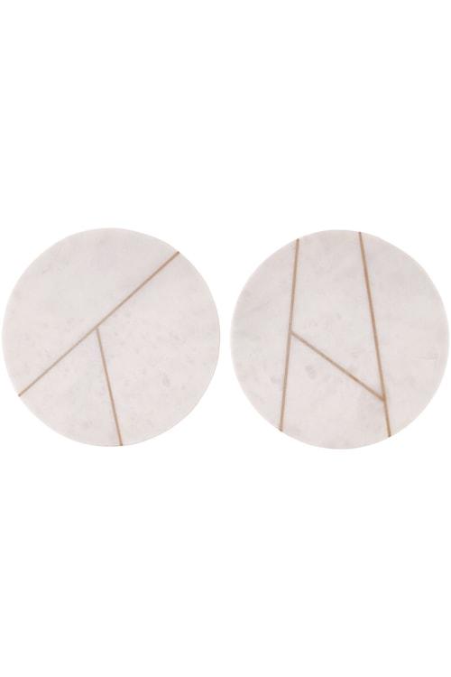 Bakke i Marmor Ø 18 cm - Hvid