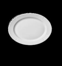 Grand Cru Oval plade 17,5x23,5 cm hvid