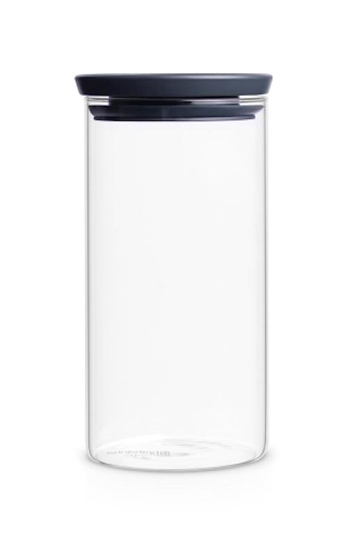 Glasburk Stapelbar 1.1 Ltr Glas/Grått Lock