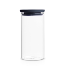 Stackable Jar 1.1 Liter Glass / Grey lid