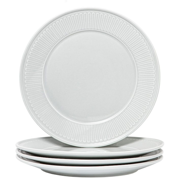 Fålhagen Assietter 4-pack, 22,5 cm Ljusgrå