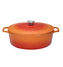Gryta Oval 5,6 L 31 cm Orange