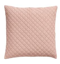 Kuddfodral ruter 50x50 cm - Rosa