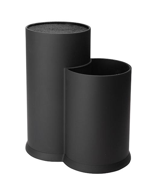Veitsiteline harjakset ja välineteline musta korkeus 22,5 cm