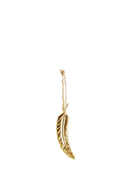Fjäderdekoration 10,5x3,4 cm - Guld