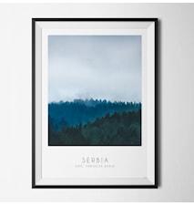 Photo art Serbia poster