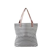 Shopping bag, Stripes, Black/White, 38% cotton/40% polyester/22% rayon ,l: 45 cm, w: 10 cm, h: 40 cm