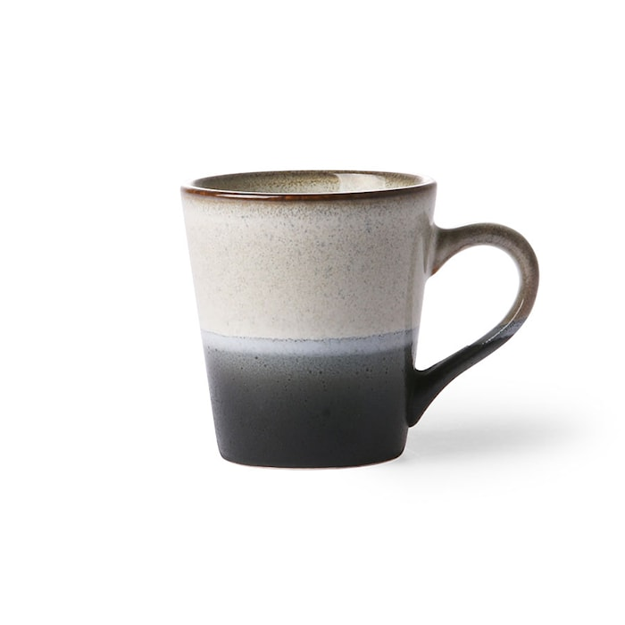 70's Espressokopp Svart och Vit 80 ml