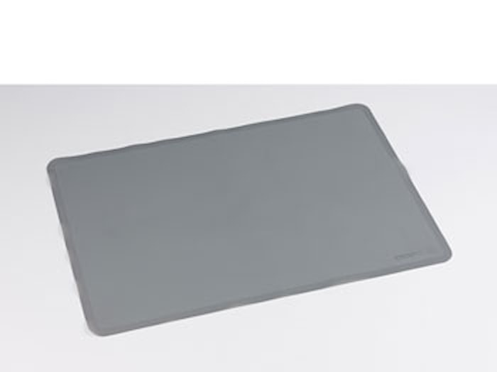 Bagemåtte 50x35 cm grå silikone