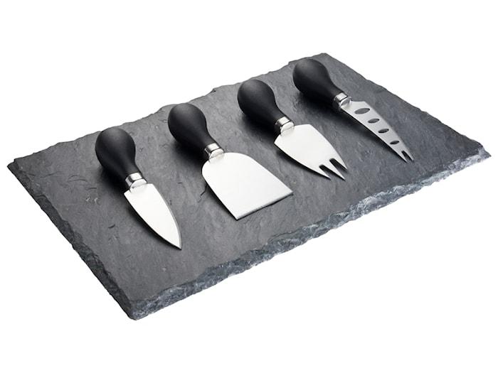 Ostesæt 4 Knive Sort