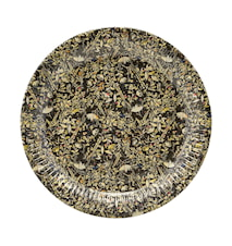 Paper plate, Floral, 12 pcs/pack ,h: 2.5 cm, dia: 23 cm