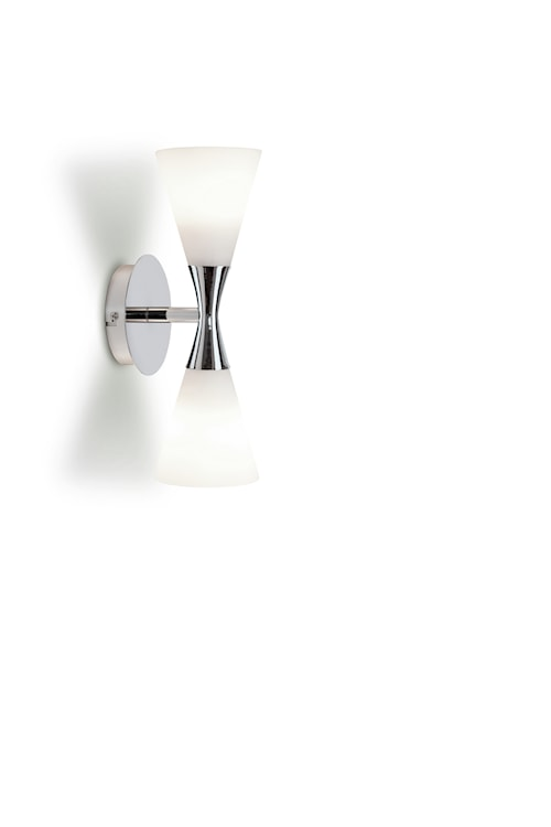 Harlekin duo vägglampa krom/vit E14