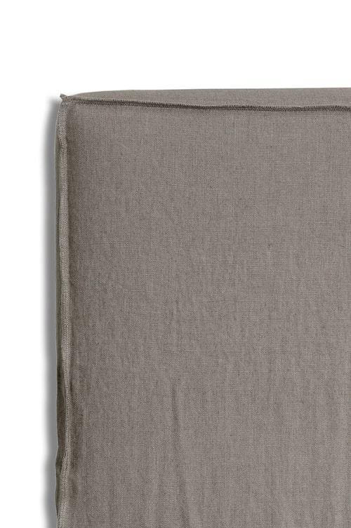 Sänggavelklädsel Mira Loose-fit stone 180x140