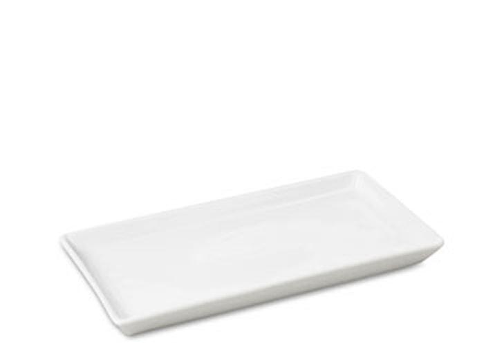 Fad rektangulær. 30x15 cm hvid