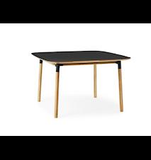 Form Bord Svart/Ek 120x120 cm