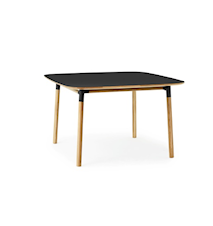 Form Bord Svart/Eik 120x120 cm