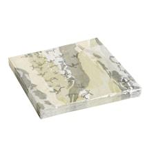 ART napkins, disposable, green/yellow