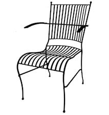 Smide stol med armstöd