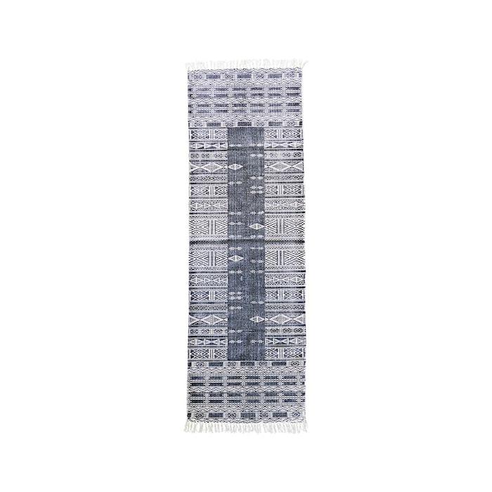 Teppe Julia 70x240 cm - Svart/Hvit