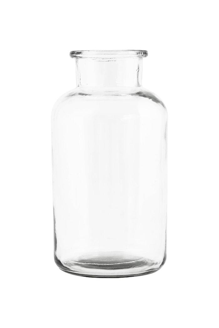 Vase Jar Ø 10x30 cm - Klar