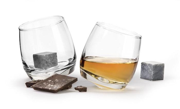 Club Whiskyglass rundad botten 2-pakk. Drinksteinar 2-pakk.