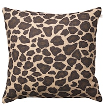 Leopard Kudde Linne Beige/Brun 50 x 50 cm