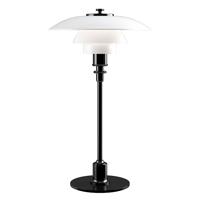 PH 3½-2½ Bordslampa - Svart Metalliserad/Glas