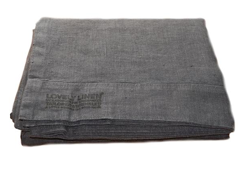 Lovely linen sengetøy – Dark grey, 145x210