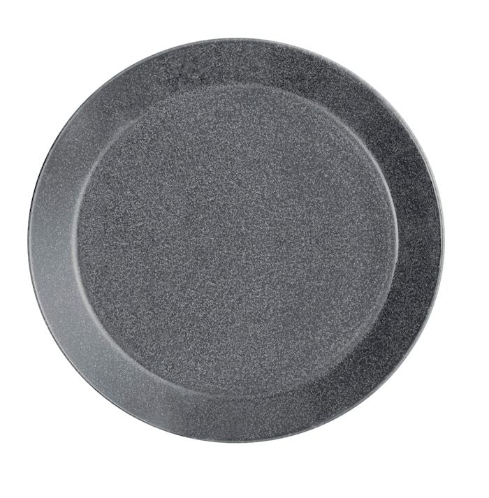 Teema tallrik 21 cm melerad grå