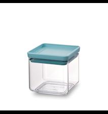 Fyrkantig förvaringsburk 0,7 L Transparant / Mint lock