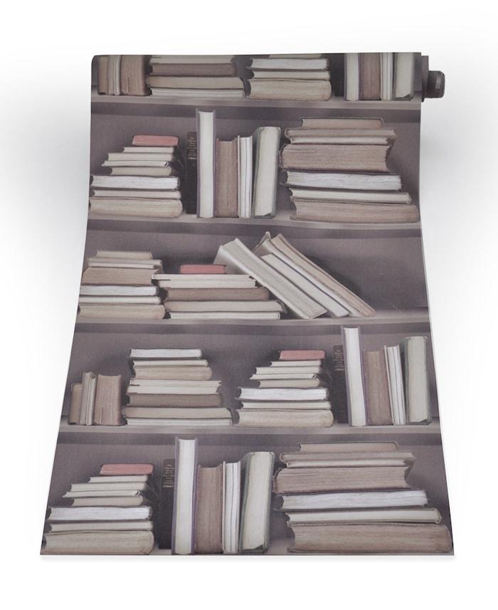 Bookshelf vintage tapet