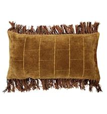 Kudde Sammet Brun 35x70 cm