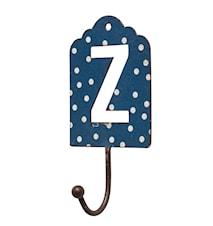 Bokstavskrok i metall 13 cm - Z